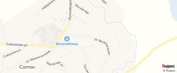 Улица Веселый Клин на карте села Солтона с номерами домов