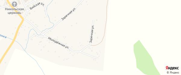 Заречная улица на карте села Солтона с номерами домов