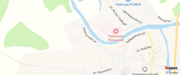 Кирпичная улица на карте села Чоя с номерами домов