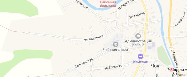 Улица Калинина на карте села Чоя с номерами домов