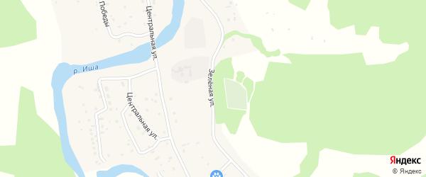 Зеленая улица на карте села Гусевки с номерами домов