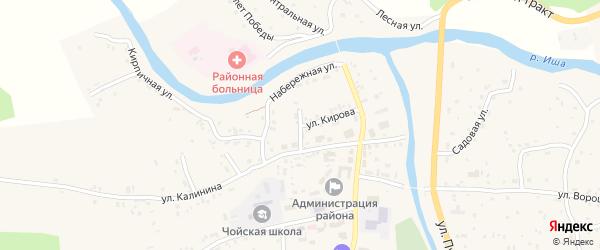 Улица Кирова на карте села Чоя с номерами домов