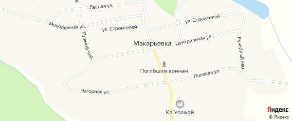 Улица Заречье на карте села Макарьевки с номерами домов