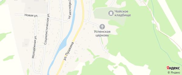 Успенская улица на карте села Чоя с номерами домов