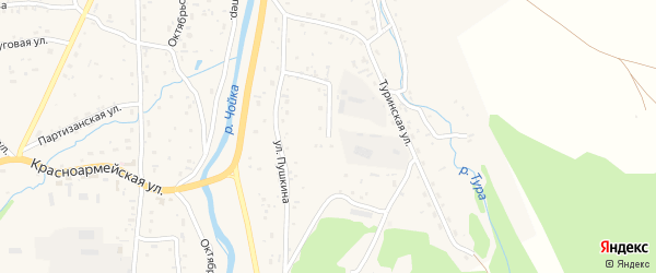 Еловая улица на карте села Чоя с номерами домов