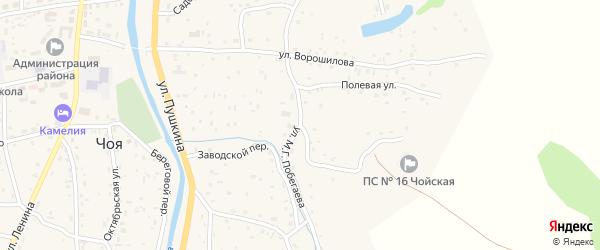 Улица Побегаева на карте села Чоя с номерами домов