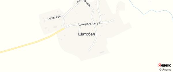 Веселый переулок на карте села Шатобала с номерами домов