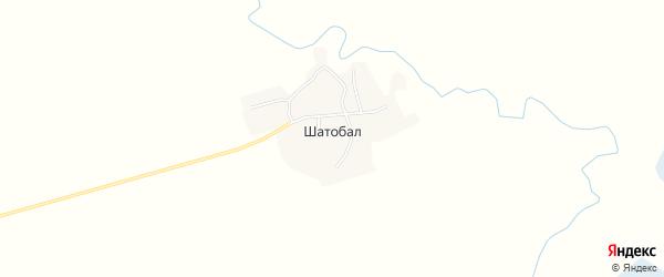 Карта села Шатобала в Алтайском крае с улицами и номерами домов