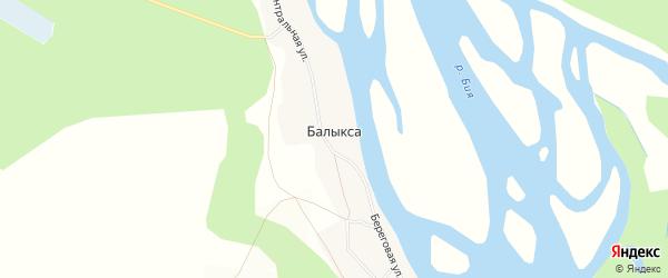 Карта села Балыксы в Алтайском крае с улицами и номерами домов