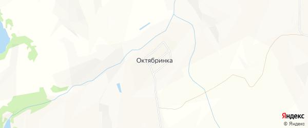 Карта поселка Октябринки города Киселевска в Кемеровской области с улицами и номерами домов