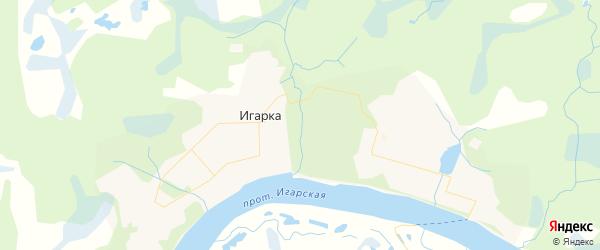 Карта Игарки с районами, улицами и номерами домов