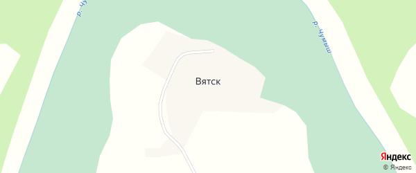 Крестьянская улица на карте поселка Вятска с номерами домов