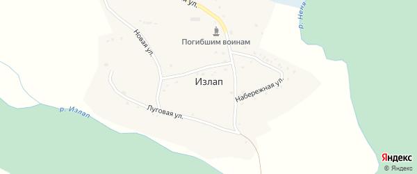 Школьная улица на карте села Излапа с номерами домов