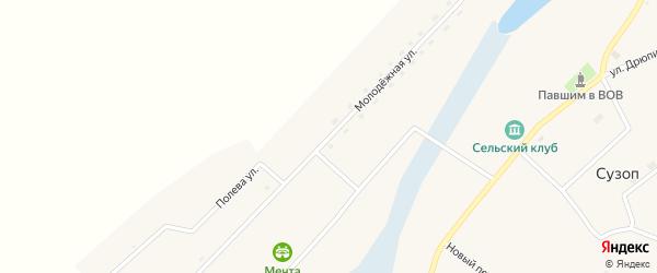 Молодежная улица на карте села Сузоп с номерами домов