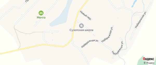 Больничный переулок на карте села Сузоп с номерами домов