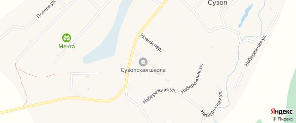 Школьный переулок на карте села Сузоп с номерами домов
