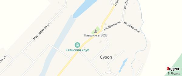 Центральная улица на карте села Сузоп с номерами домов