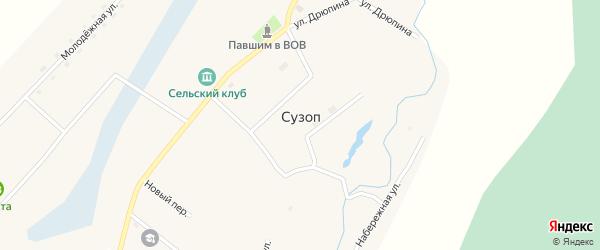Набережная улица на карте села Сузоп с номерами домов