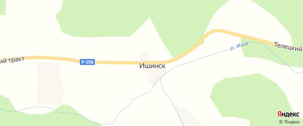 Петровская улица на карте села Ишинска с номерами домов
