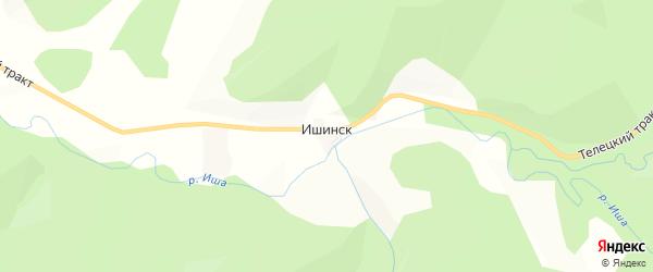 Карта села Ишинска в Алтае с улицами и номерами домов