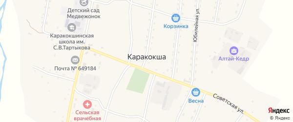 Школьный переулок на карте села Каракокши с номерами домов