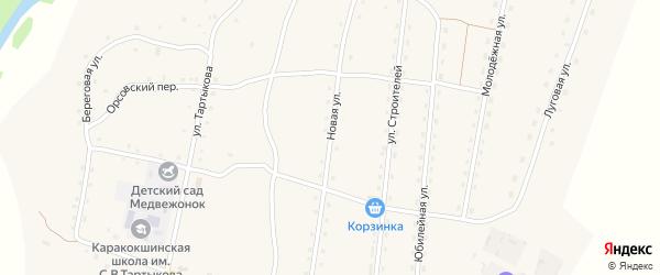 Новая улица на карте села Каракокши с номерами домов