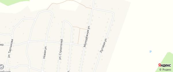 Молодежная улица на карте села Каракокши с номерами домов