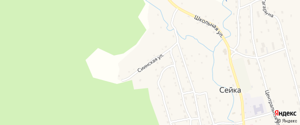 Сиинская улица на карте села Сейка с номерами домов
