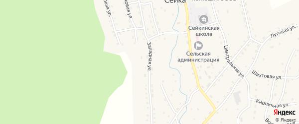 Западная улица на карте села Сейка с номерами домов