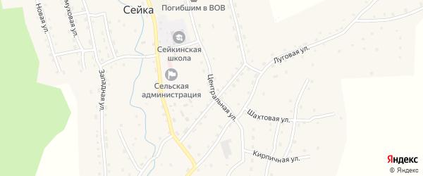 Центральная улица на карте села Сейка с номерами домов