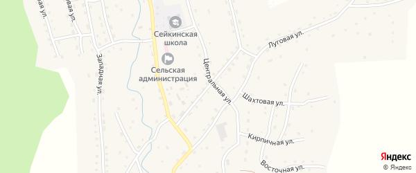 Октябрьская улица на карте села Сейка с номерами домов