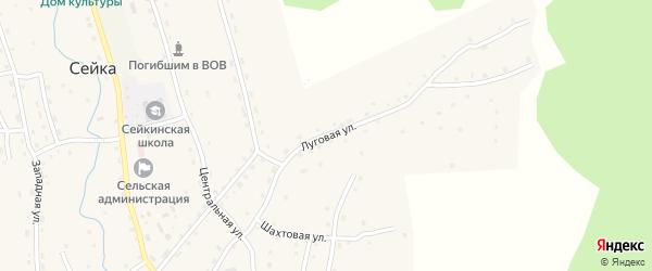 Луговая улица на карте села Сейка с номерами домов