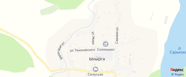 Улица Мира на карте села Ынырги с номерами домов