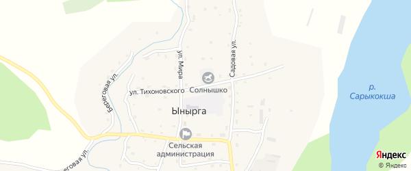 Улица Тихоновского на карте села Ынырги с номерами домов