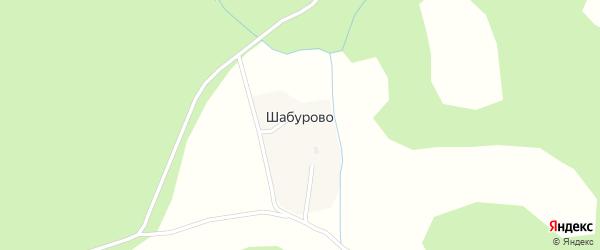 Центральная улица на карте поселка Шабурово с номерами домов