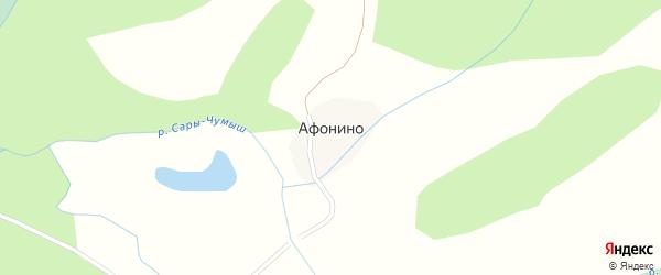 Центральная улица на карте села Афонино с номерами домов
