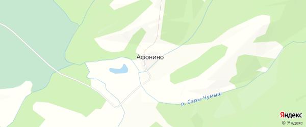 Карта села Афонино в Алтайском крае с улицами и номерами домов
