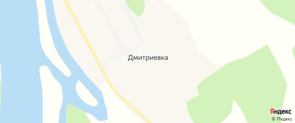 Территория Бийский участок на карте села Дмитриевки с номерами домов