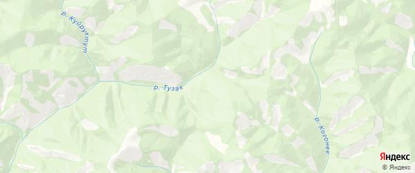 Карта Купчегеньского сельского поселения республики Алтай с районами, улицами и номерами домов