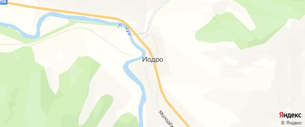 Карта села Иодра в Алтае с улицами и номерами домов