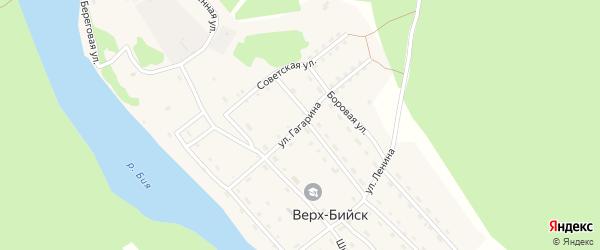 Улица Гагарина на карте села Верха-Бийска с номерами домов