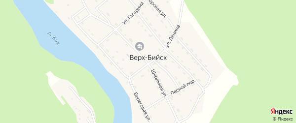 Береговой переулок на карте села Верха-Бийска с номерами домов