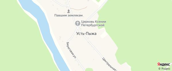 Новая улица на карте села Усть-Пыжа с номерами домов