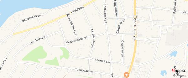 Алтайская улица на карте села Турочак с номерами домов