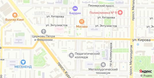 Улица 25 лет Октября в Новокузнецке