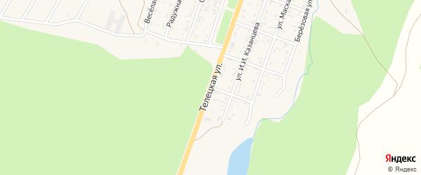 Телецкая улица на карте села Турочак с номерами домов