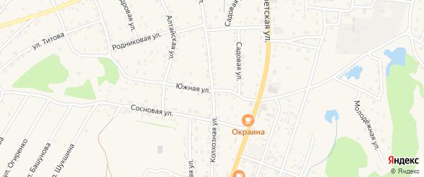 Колхозная улица на карте села Турочак с номерами домов
