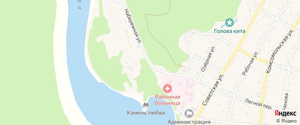 Набережная улица на карте села Турочак с номерами домов