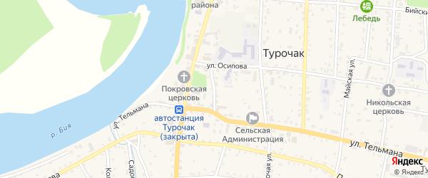 Лебедская улица на карте села Турочак с номерами домов