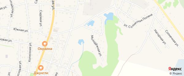 Молодежная улица на карте села Турочак с номерами домов